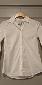 J Crew White Button Down Shirt